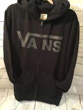 Vans Classic Zip Hoodie Black/charcoal Mens Sz XL