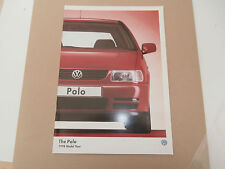 VW Polo 1998. brochure In uncirculated   collectors condition. nr' MINT
