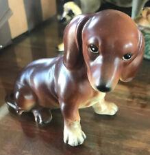 Vintage Lefton - Dachshund - Painted Porcelain Dog Figure
