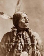 CHIEF WOLF ROBE CHEYENNE VINTAGE PHOTO NATIVE AMERICAN INDIAN 1904 - 20844