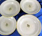 Rare lot de 4 assiettes de Moustier Varage avec son décor traditionnel et son b