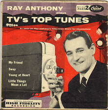 """RAY ANTHONY """"TV'S TOP TUNES"""" POP VOCAL PART 2, 50'S EP CAPITOL EAP 2-9118"""