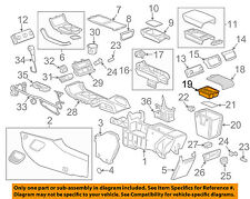 GM OEM Center Console-Tray 22863102