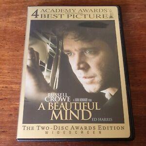 A Beautiful Mind DVD R4 Like New! FREE POST