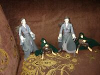 Lord of the Rings Action Figures Lot 4 2 Arwen and 2 Frodo