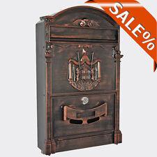 5х Briefkasten Retro Antik Braun Nostalgie Briefkasten, Guß Briefkasten