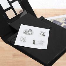 Fotoalbum zum Selbstgestalten Leder Scrapbook Album Schwarze Seiten Fotobuch DE