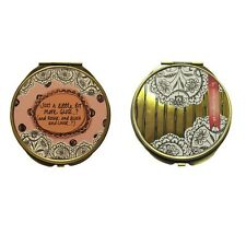 Compact Mirror - Why Not? Two mirror handbag handheld compact. Gift. Beauty