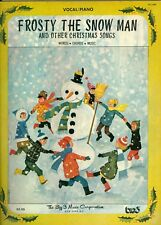 Frosty The Snow Man and other Christmas Songs song book sheet music snowman