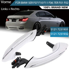 2x Exterior Front Right+Left Door Handle White Chrom For BMW F07 F10 F06 F11 F01