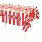 1 x POPCORN TABLECOVER MOVIE NIGHT CIRCUS CARNIVAL PARTY DECORATION TABLECLOTH