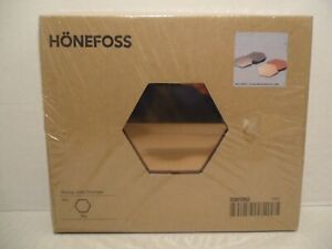 Ikea Honefoss 10 Hexagonal Chrome Brass Mirrors Julia Treutiger New Decor 19661