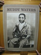 Muddy Waters Poster Portrait With Guitar