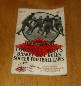 1914 Draper/Maynard Official Football & Basketball Rules Soccer & Football Laws