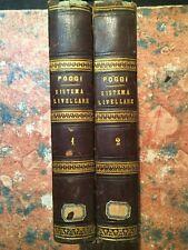 Poggi: Saggio teorico pratico sistema livellare, 2 Volumi, Firenze 1842
