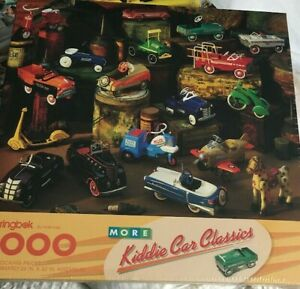 NEW Sealed 1993 Springbok Puzzle MURRAY KIDDIE CAR MORE 1000 pc PEDAL CARS
