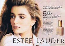 PUBLICITE ADVERTISING 045 1994 ESTEE LAUDER maquillage (2 pages) 1