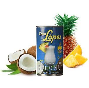 Crema De COCO LOPEZ Real CREAM OF COCONUT 15oz.