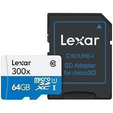 Lexar High-Performance microSDXC 300x 64GB UHS-I/U1 Model : LSDMI64GB1NL300A
