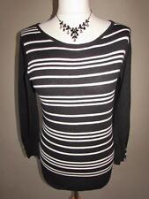 Next Women's stripe Thin Knit Cotton Jumpers & Cardigans