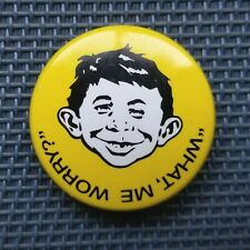 Mad Magazine ALFRED E. NEUWMAN What Me Worry Hat Lapel Pin Badge
