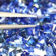 4.77 CT GENUINE MINED NR BLUE SAPPHIRE SQUARE PRINCESS CUT 2.0-4.5 MM 28 PCS