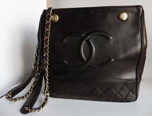 Borsa da donna Chanel vintage pelle marrone