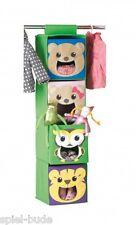 2 Stück Kinder Hängeorganizer Hängeregal Hängeschrank Campingschrank 4 Faltbox