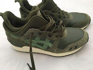 ASICS Tiger Gel Lyte 40 Sneaker Khaki Grün Leder US 7 Schuhe Fashion