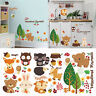 Removable Woodland Animals Vinyl Cute Wall Stickers DIY Kids Room Nursery Decal