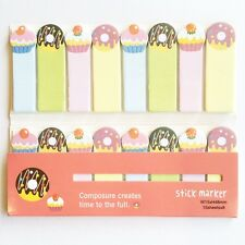 120 Sheets Cute Doughnut Cakes Mini Sticky Notes Page Marker Memo Tab Sticker