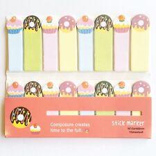 120 FOGLI Carino Ciambella torte Mini Sticky Notes pagina marcatore Scheda memo adesivo