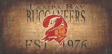 """Tampa Bay Buccaneers Retro Throwback Established 1976 Wood Sign Wall NEW 12"""" x 6"""