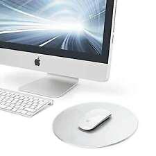 Premium Round Aluminum Metal Mouse Pad matches Apple Imac or macbook