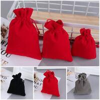 Hessian Burlap Velvet Bags Jewelry Packaging Drawstring Pouch Jute Gift Bag
