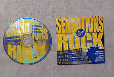 CD PROMO/ VARIOUS SENSATIONS ROCK: LES 6 GROUPES QUI BOUSCULENT LE ROCK FRANÇAIS