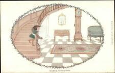 H. Willebeek Le Mair Nursery Rhume Dickory Dock Clock c1910 Postcard