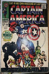 CAPTAIN AMERICA #100 (Apr 1968) Marvel GDVG 🗝🔥