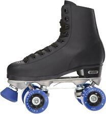 CHICAGO SKATES Men's Classic Roller Skates-Premium Black Quad Rink Skates SIZE 4