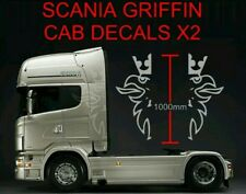 scania hgv truck griffin decals 2x large vinyl sticker decals