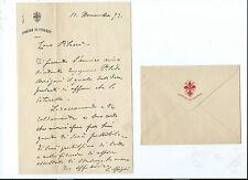Lettera Autografo Architetto Ingegnere Cesare Spighi Riordino Centro Firenze