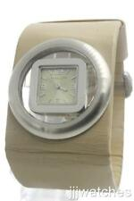 New Kenneth Cole Reaction Women Tan Genuine Leather Dress Watch 44mm RK1082