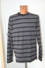 "Original ETNIES Tee shirt  "" Guard "" Noir gris rayé   -  Taille L neuf"
