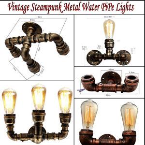 Vintage Wall Lamp Rustic Industrial Steampunk Metal Water Pipe Ceiling Pendant