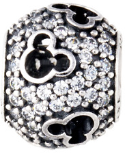 AUTHENTIC PANDORA Sterling Silver Disney Mickey Mouse Silhouette Charm 791442CZ