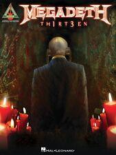 Megadeth Th1rt3en Sheet Music Guitar Tablature Book Thirteen NEW 000691185