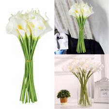 10Pcs Artificial Silk Simulation Fake Flower Calla Lily Wedding Decor Flowers