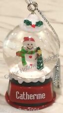 Personalized Snow Globe Ornament - Catherine - FREE Shipping