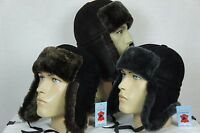 Sheepskin Shearling Leather Aviator Bomber Trapper Ushanka Hunting Hat M-3X NWT