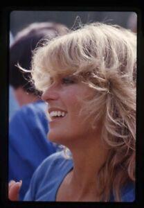 Farrah Fawcett Charlie's Angels Era Candid Profile Original 35mm Transparency